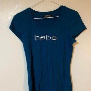 Scoop neck blue Bebe top